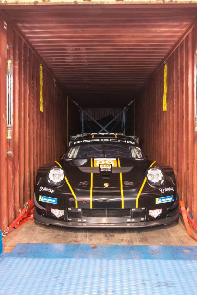 race car loading
